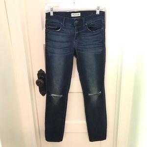 Madewell Ripped Knee Skinny Jeans